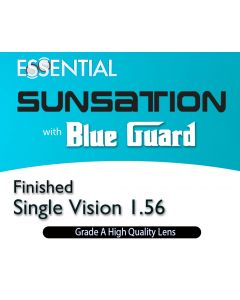 Finished Single Vision 1.56 Blue Guard Sunsation