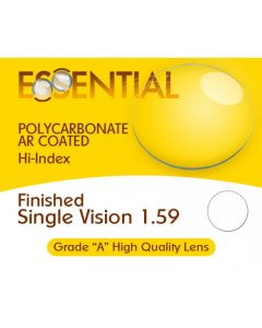 Finished Single Vision High Index 1.59 Polycarbonate Anti-Reflective Coating