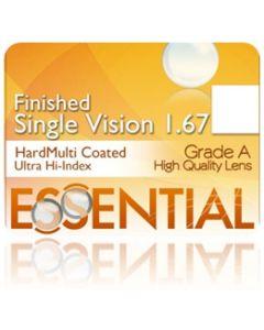 Finished Single Vision Ultra High Index 1.67 Hard Multi-Coated