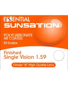 Finished Single Vision Sunsation High Index 1.59 Polycarbonate Anti-Reflective