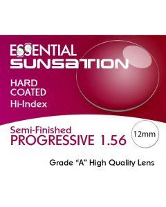Semi-Finished Progressive Short Cut Sunsation Grey (MFH)12mm 1.56 Hard Coated