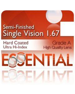 Semi-Finished Single Vision Ultra High Index 1.67 Hard Coated